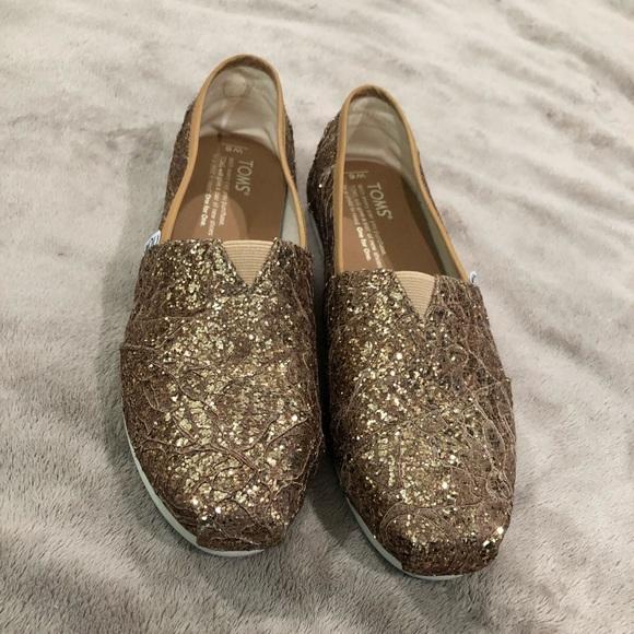 Toms Shoes | Bronze Glitter | Poshmark